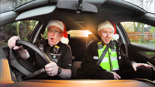 Staffordshire Police Christmas Carpool Karaoke