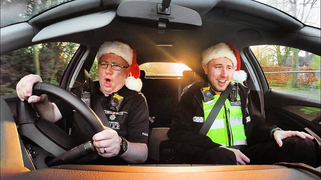 Staffordshire Police Christmas Carpool Karaoke